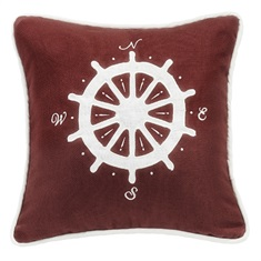 Prescott Red Compass Embroidery Pillow