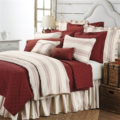 Prescott Red Duvet Set