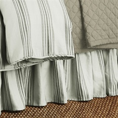 Prescott Taupe Taupe Striped Bedskirt