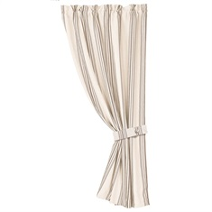 Prescott Taupe Taupe Striped Curtain