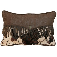 Red Rodeo Fringed Pillow