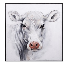 Rickey Cow Oil Painting