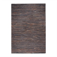 Riviera Dark Brown Striped Rug Swatch