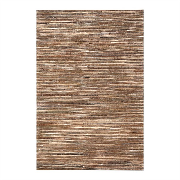 Riviera Light Brown Striped Rug Swatch