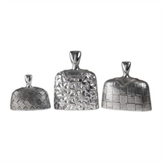 Roberto Bright Silver Finial Set S/3