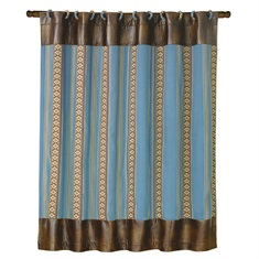 Ruidoso Blue Striped Shower Curtain