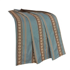 Ruidoso Blue Striped Throw