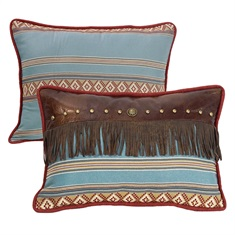Ruidoso Oblong blue striped with  fringe