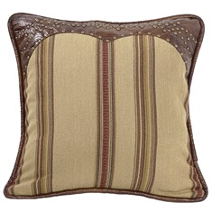 Ruidoso Square striped with  leather trim and studs