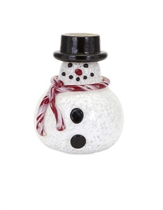 Sammy Small Glass Snowman