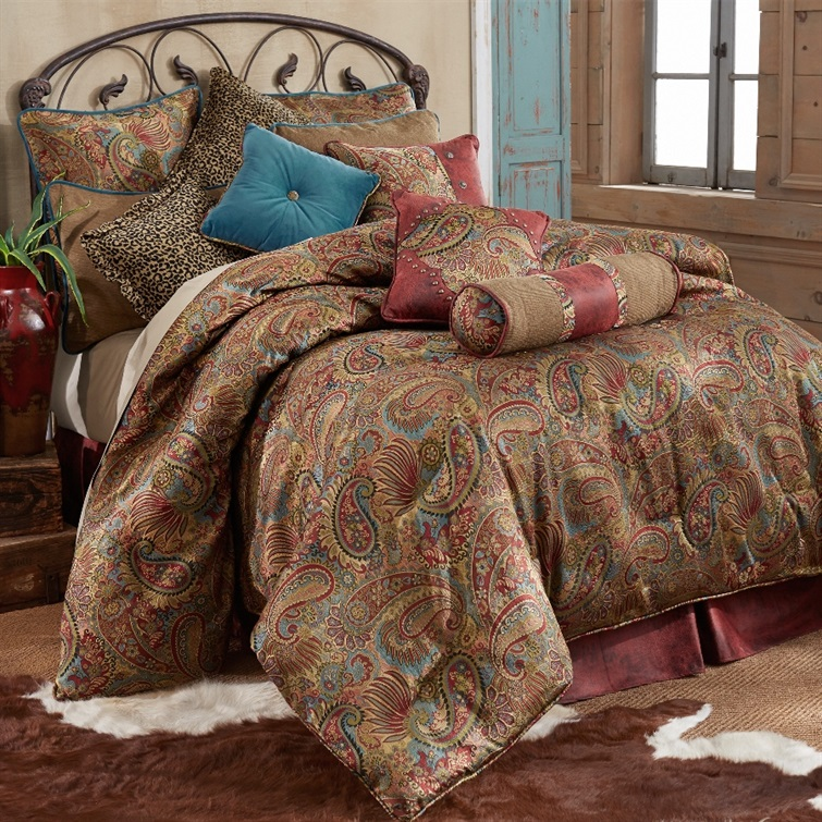 San Angelo Comforter Set - Red