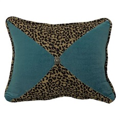San Angelo Leopard & Teal Pillow