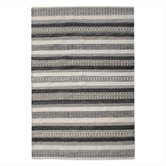 Scottia Charcoal Hand Woven Rug Swatch