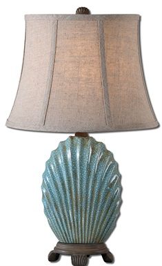 Seashell Blue Buffet Lamp