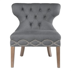 Shafira Gray Armless Chair