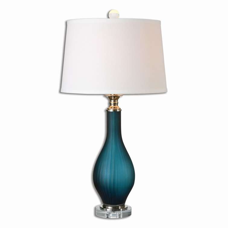 Shavano Blue Glass Table Lamp