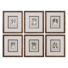 Small Breed Sketch Prints S/6