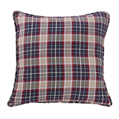 South Haven Blue Plaid Euro Sham