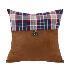 South Haven Blue Plaid Pillow