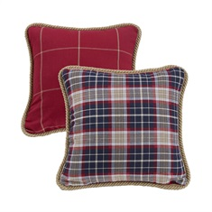South Haven Red Window Pane Pillow