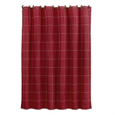 South Haven Red Window Shower Curtain