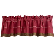 South Haven Red Window Valance