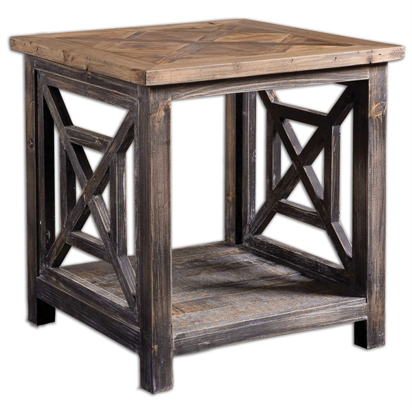 Spiro Reclaimed Wood End Table