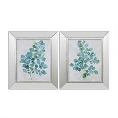 Spring Leaves Framed Art, S/2