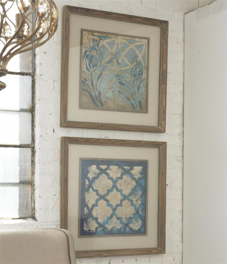 Stained Glass Indigo Art Set/2