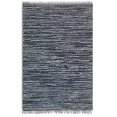 Stockton Black Hand Woven Rug Swatch