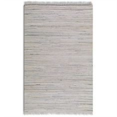 Stockton White Hand Woven Rug Swatch