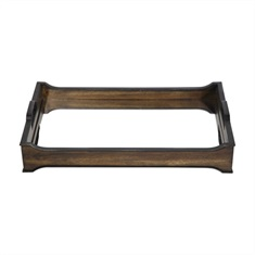 Sylvie Mirror And Wood Tray