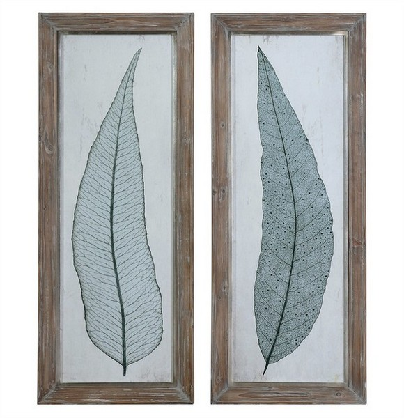 Tall Leaves Framed Art Set/2