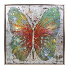 Tenley Butterfly Framed Oil Painting