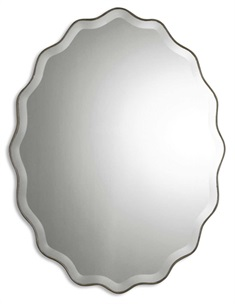 Teodora Ruffed Edge Mirror