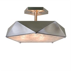 Tesoro 3 Light Antique Nickel Semi Flush
