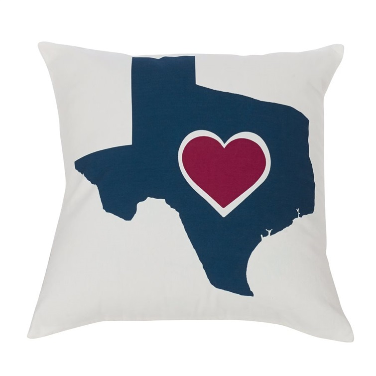 Texas Heart Pillow