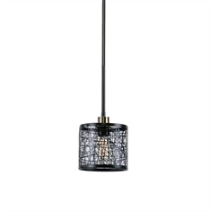 ThinAlita 1 Light Bronze Mini Pendant