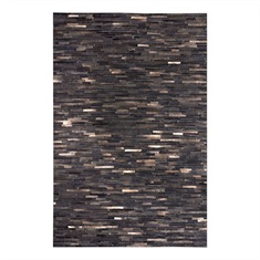 Tiago Dark Brown Striped Rug Swatch