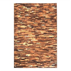 Tiago Medium Brown Striped Rug Swatch