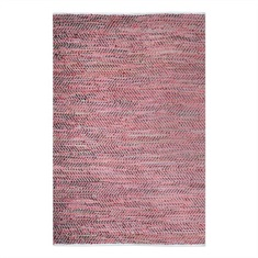 Tobais Red Hand Woven Rug Swatch