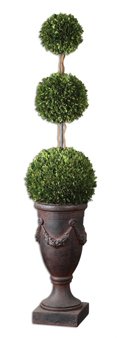 Triple Topiary Preserved Boxwood