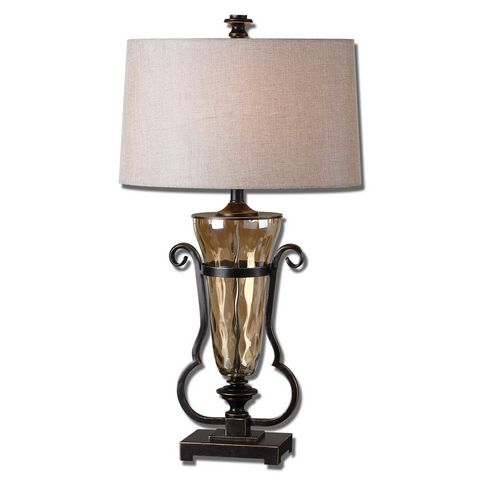 Uttermost Aemiliana Amber Glass Table Lamp
