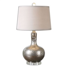 Uttermost Aemilius Gray Glass Table Lamp