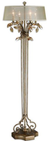 Uttermost Alenya Gold Floor Lamp