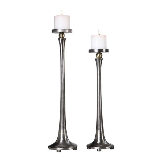 Uttermost Aliso Cast Iron Candleholders Set/2