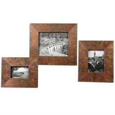 Uttermost Ambrosia Copper Photo Frames S/3