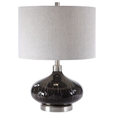 Uttermost Ampara Deep Charcoal Table Lamp