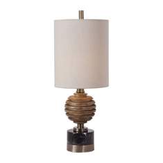 Uttermost Anatola Wood Sphere Buffet Lamp