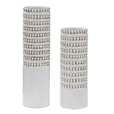 Uttermost Angelou White Vases, Set/2
